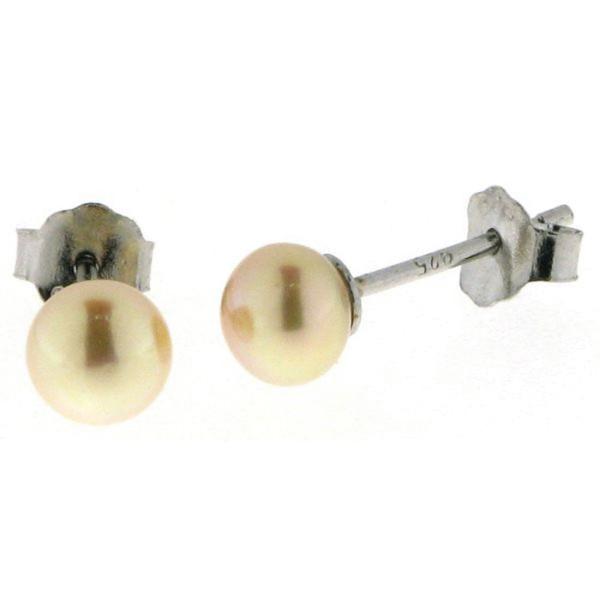 Perl-Ohrstecker - Süßwasserzuchtperlen 5 bis 5,5 mm - 925/-