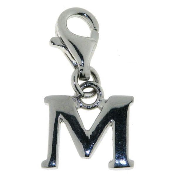 Charm Buchstabe M massiv echt Silber