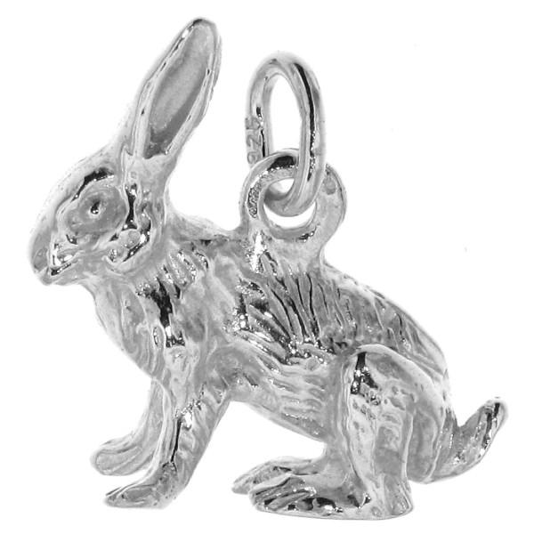 Anhänger Hase Kaninchen Häschen Osterhase massiv echt Silber