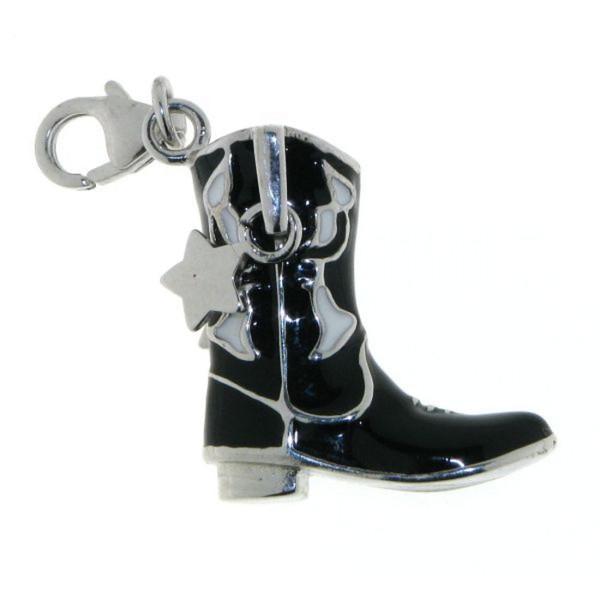 Charm Western-Boot Westernstiefel Cowboystiefel massiv echt Silber mit Lack