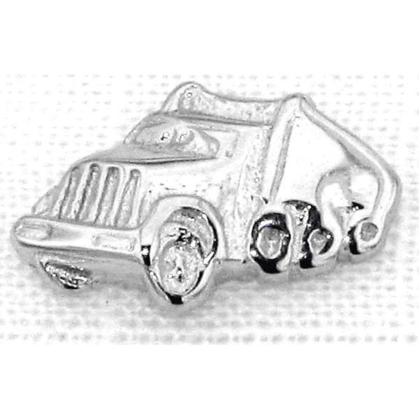 Ohrstecker Truck Herren Einzel Ohrring massiv echt Silber