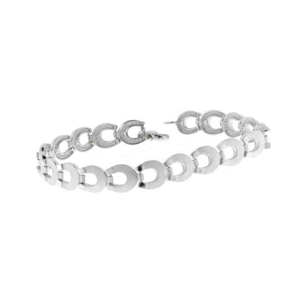 Armband aus 19 Hufeisen Hufeisenarmband massiv echt Silber