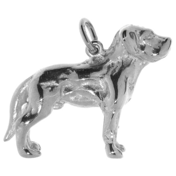 Anhänger Labrador Retriever mit unkupierter Rute schwer massiv echt Silber