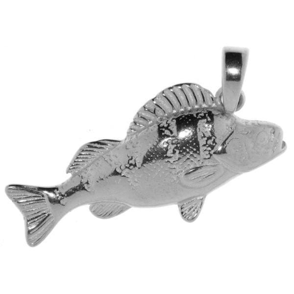 Anhänger Flußbarsch Barsch-Fisch massiv echt Silber