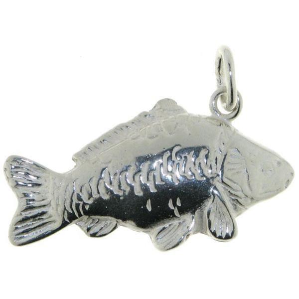 Anhänger Spiegelkarpfen Fisch massiv echt Silber