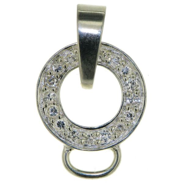 Charmträger massiv echt Silber mit Zirkonia