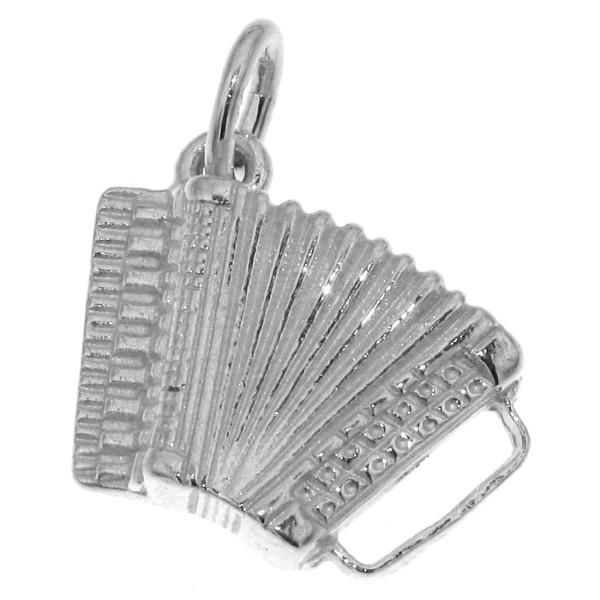 Anhänger Akkordeon Musikinstrument massiv schwer echt Silber