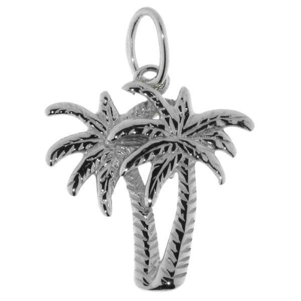 Anhänger Palmen-Pflanze massiv echt Silber
