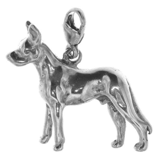 Charm Kelpie australischer Schäferhund Hunderasse massiv echt Silber