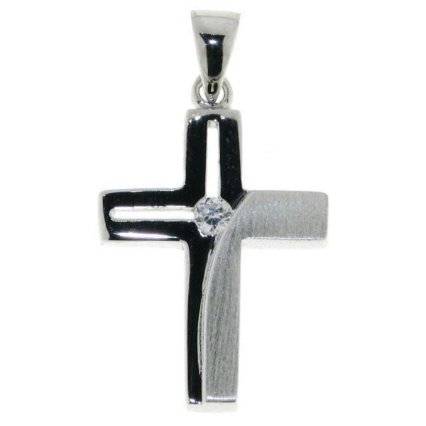 Anhänger Kreuz mit Zirkonia