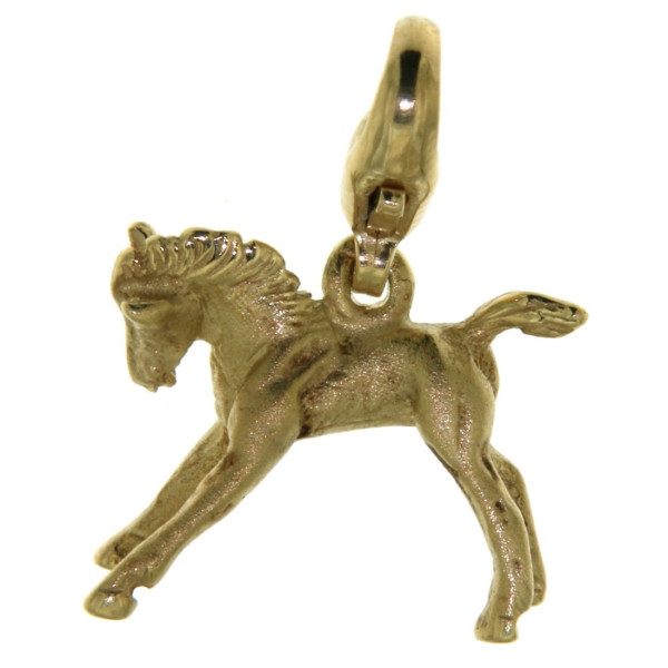 Charm Fohlen Pferdchen mattiert - poliert