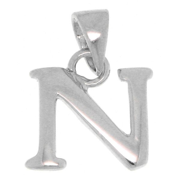 Anhänger Alphabet Buchstabe N massiv echt Silber