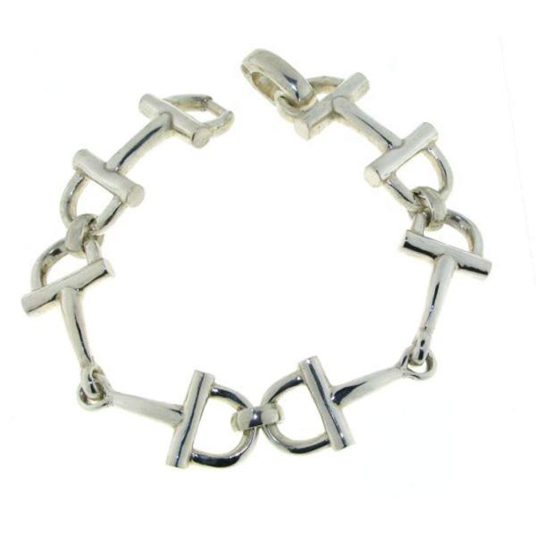 Armband Trensengebisse sehr schwer massiv echt Silber extralang Trensenarmband