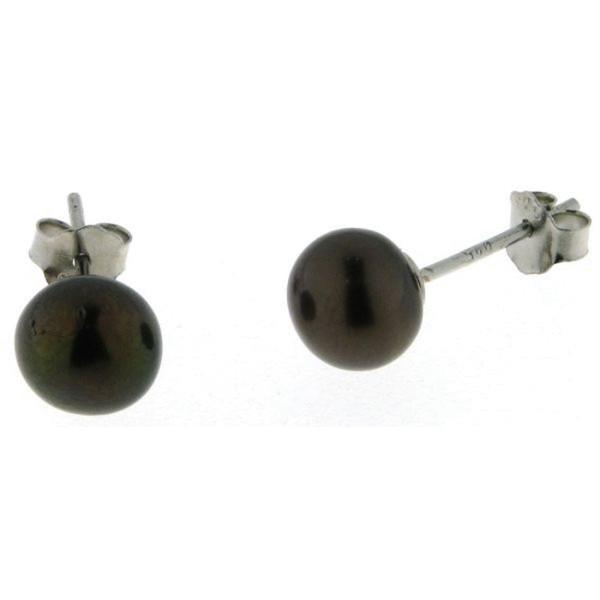 Perl-Ohrstecker - Süßwasserzuchtperlen 7 bis 7,5 mm - 925/-