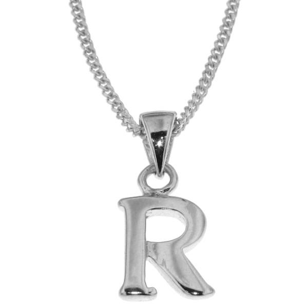 Anhänger Buchstabe R massiv echt Silber mit Kette Sonderangebot nur für kurze Zeit
