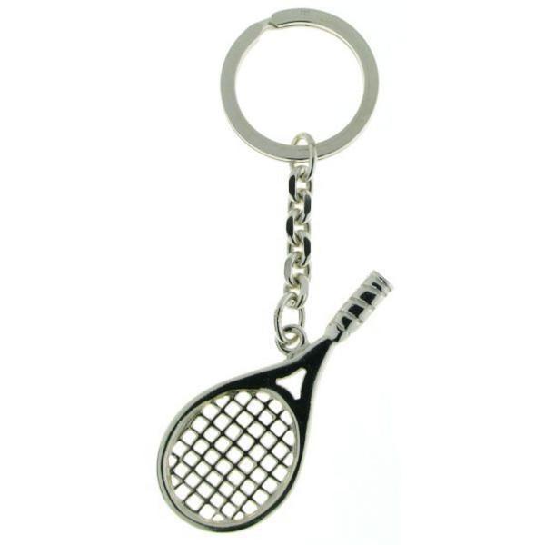 Schlüsselanhänger Tennisschläger massiv echt Silber Tennisspiel Tennis Sport