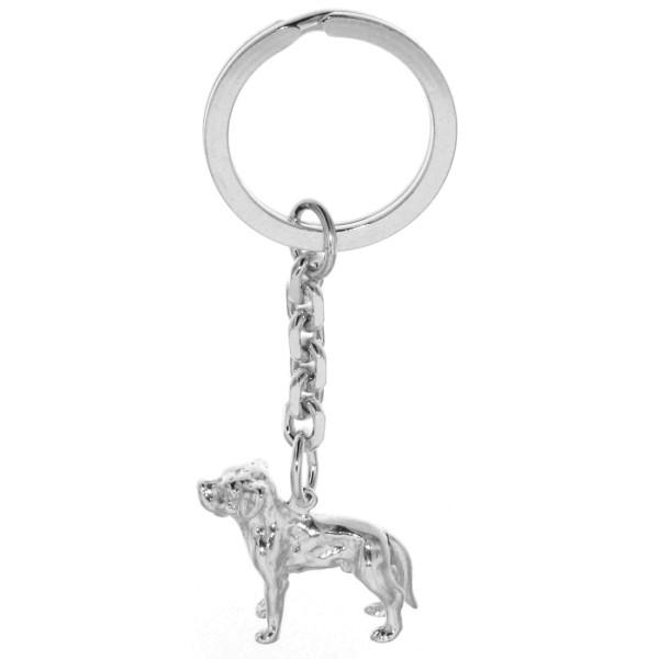Schlüsselanhänger Labrador Retriever Hunderasse massiv echt Silber