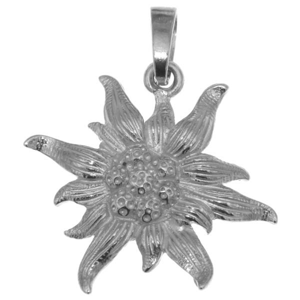 Anhänger Edelweiß-Blüte Edelweiss originalgroß echt Silber