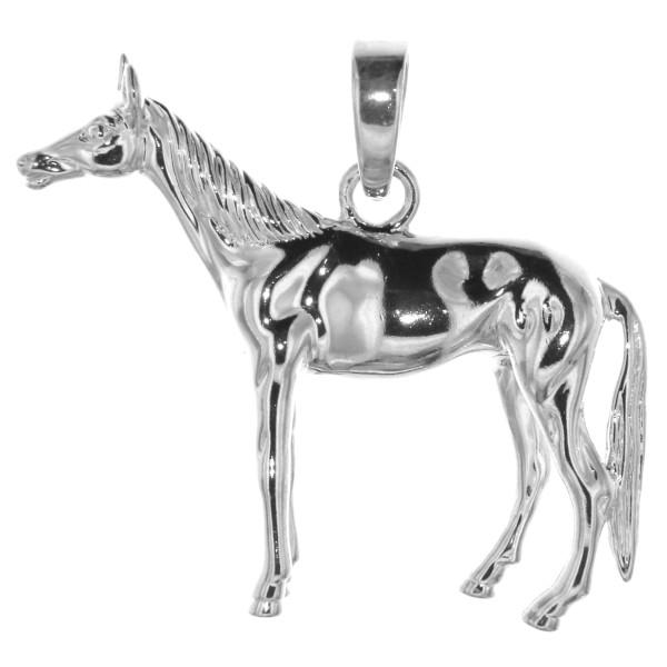 Anhänger großes Pferd schwer massiv echt Silber