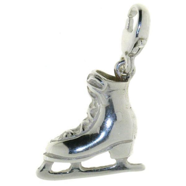 Charm Schlittschuh Eiskunstlauf massiv echt Silber