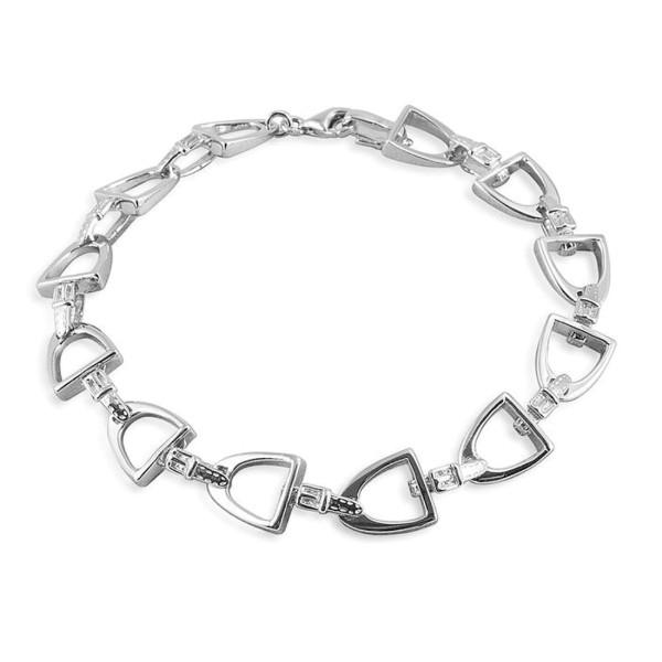 Armband aus 12 kleineren Steigbügeln massiv echt Silber - Steigbügel-Armband