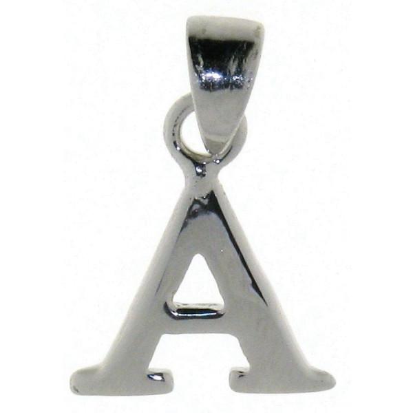 Anhänger Alphabet Buchstabe A massiv echt Silber