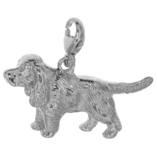 Charm Cocker Spaniel unkupiert Hunderasse schwer massiv echt Silber