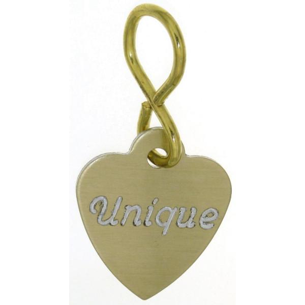 Schild in Herzform für Vorderzeug Trense oder Halfter goldfarben