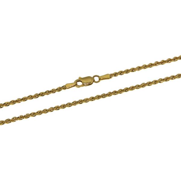 Collierkette Kordelkette - Rope chain - 2 mm stark 585/-