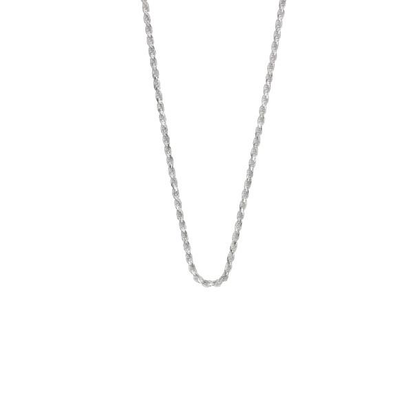 Collierkette Kordelkette - Rope chain - 2,3 mm stark massiv echt Silber