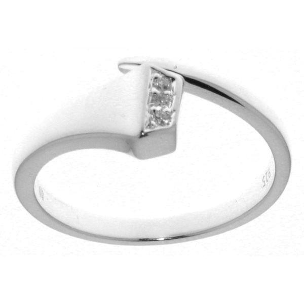 Ring Hufnagel massiv echt Silber mit 3 Zirkoniasteinen