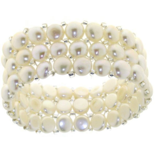 Armband aus Süßwasserzuchtperlen weiß - Angebot solange Vorrat reicht