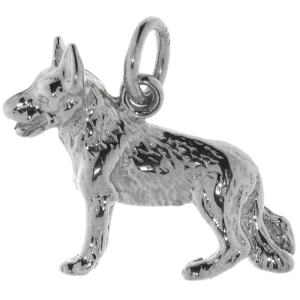 Anhänger Schäferhund Hunderasse massiv echt Silber