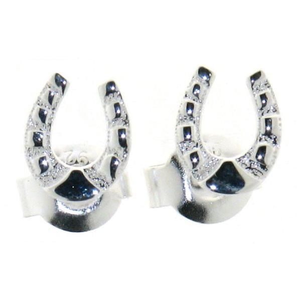 Ohrstecker Hufeisen klein Hufeisen-Ohrringe echt Silber