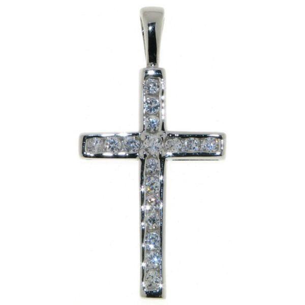 Anhänger Zirkonia Kreuz echt Silber