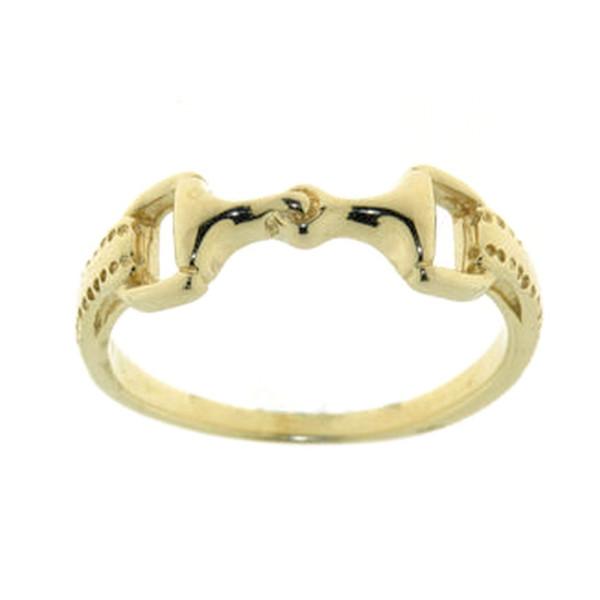 Ring mit Trensengebiß und Zügeln