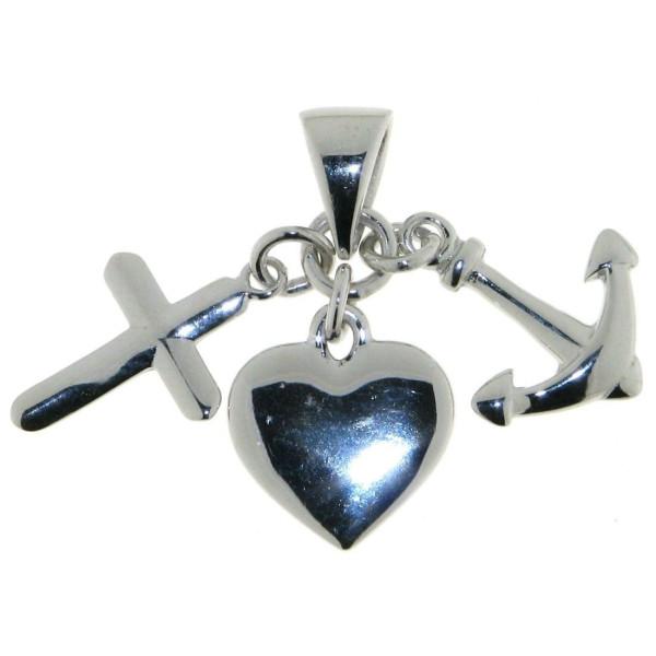 Anhänger Glaube, Liebe, Hoffnung 3-teilig massiv echt Silber