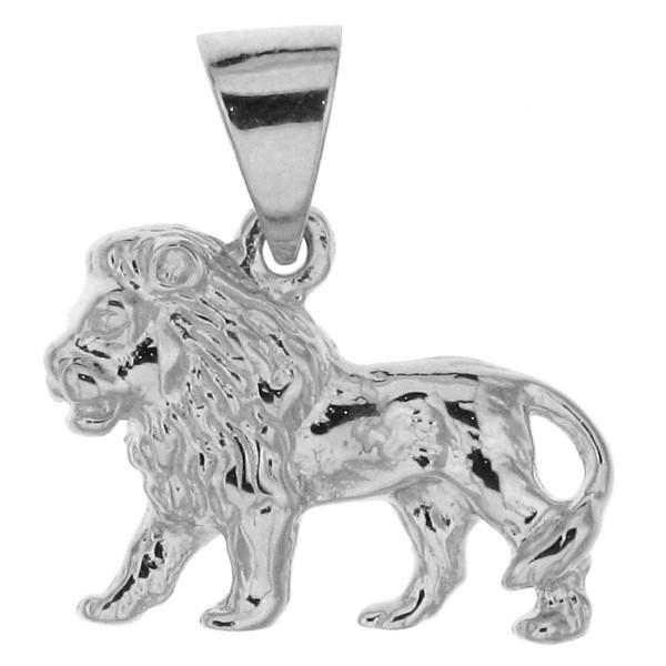 Anhänger Löwe massiv echt Silber