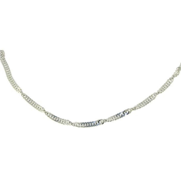 Collierkette Singapur 3,5 mm stark 70 cm 925/- Sterlingsilber