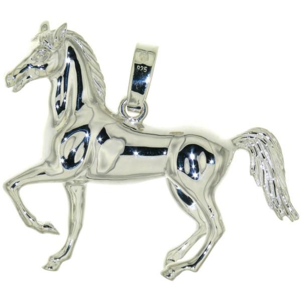 Anhänger sehr großes, schweres, massives Pferd echt Silber