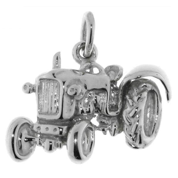 Anhänger Traktor Schlepper Bulldog Trecker massiv echt Silber