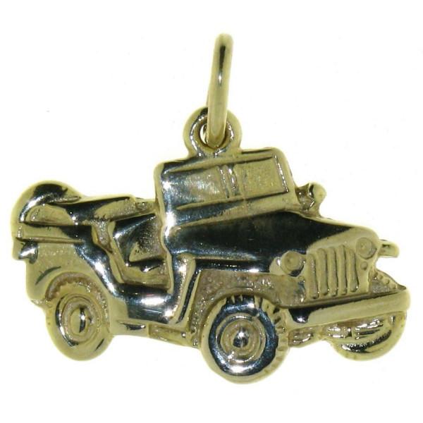 Anhänger Jeep Geländewagen SUV massiv echt Gold