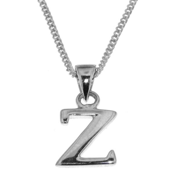 Anhänger Buchstabe Z massiv echt Silber mit Kette Sonderangebot nur für kurze Zeit